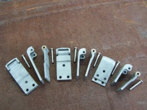 1928-1929 Model A Truck Door Hinges w/ Custom Pins